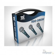 KIT 3 Microfones Trio SW